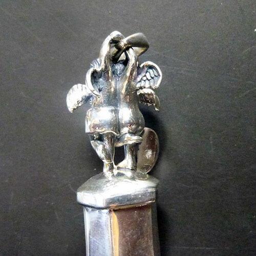 エチオピアンオパール宝石クリアクォーツ水晶ポイント守護天使ペンダント、二人のエンジェルネックレスパーツ、ジュエリー