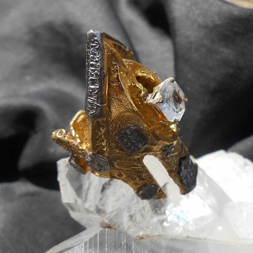 SKYDINアンドロメダンギャラクティックフェニックス未来を変える未来からやってきたリング、フェナカイト指輪