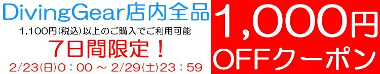 2/23〜2/29まで7日間限定!1,000円OFFクーポンGET!