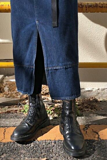 eb0013205 Dr.Martens ドクターマーチン 1460 LACELESS 24555001 BLACK VINTAGE SMOOTH シューレースレス  8ホール ブーツ ...