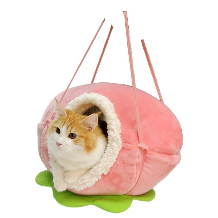 ペットベッド猫用ねこキャットニャンともハンモックの実きいちごペッツルート