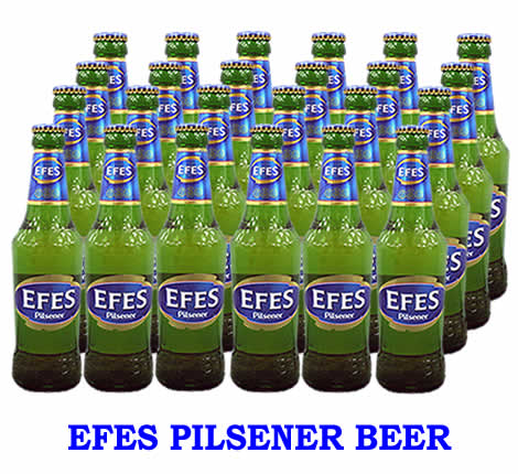 トルコのビール エフェス(瓶)ケース販売