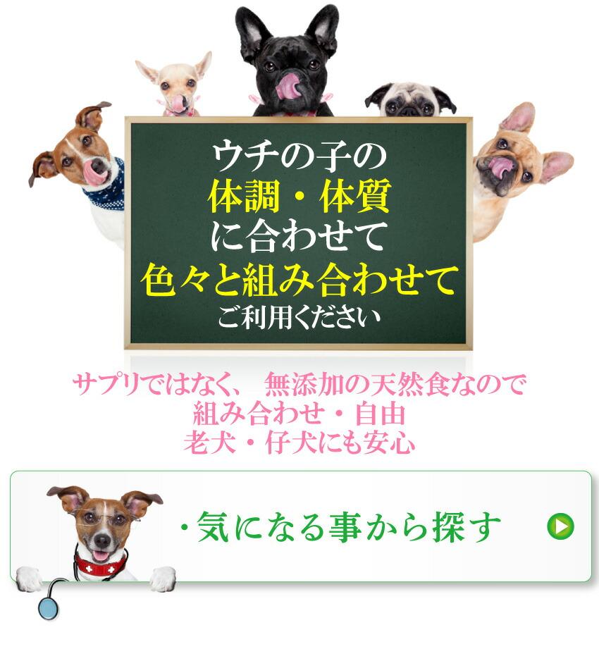 犬の無添加・サプリメント・サプリ