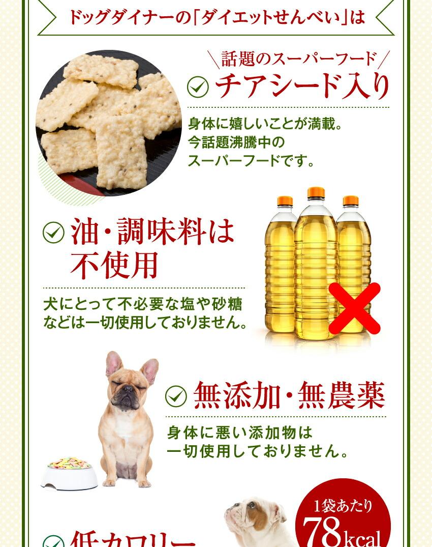 犬・無添加・国産 おやつ(ダイエット せんべい)