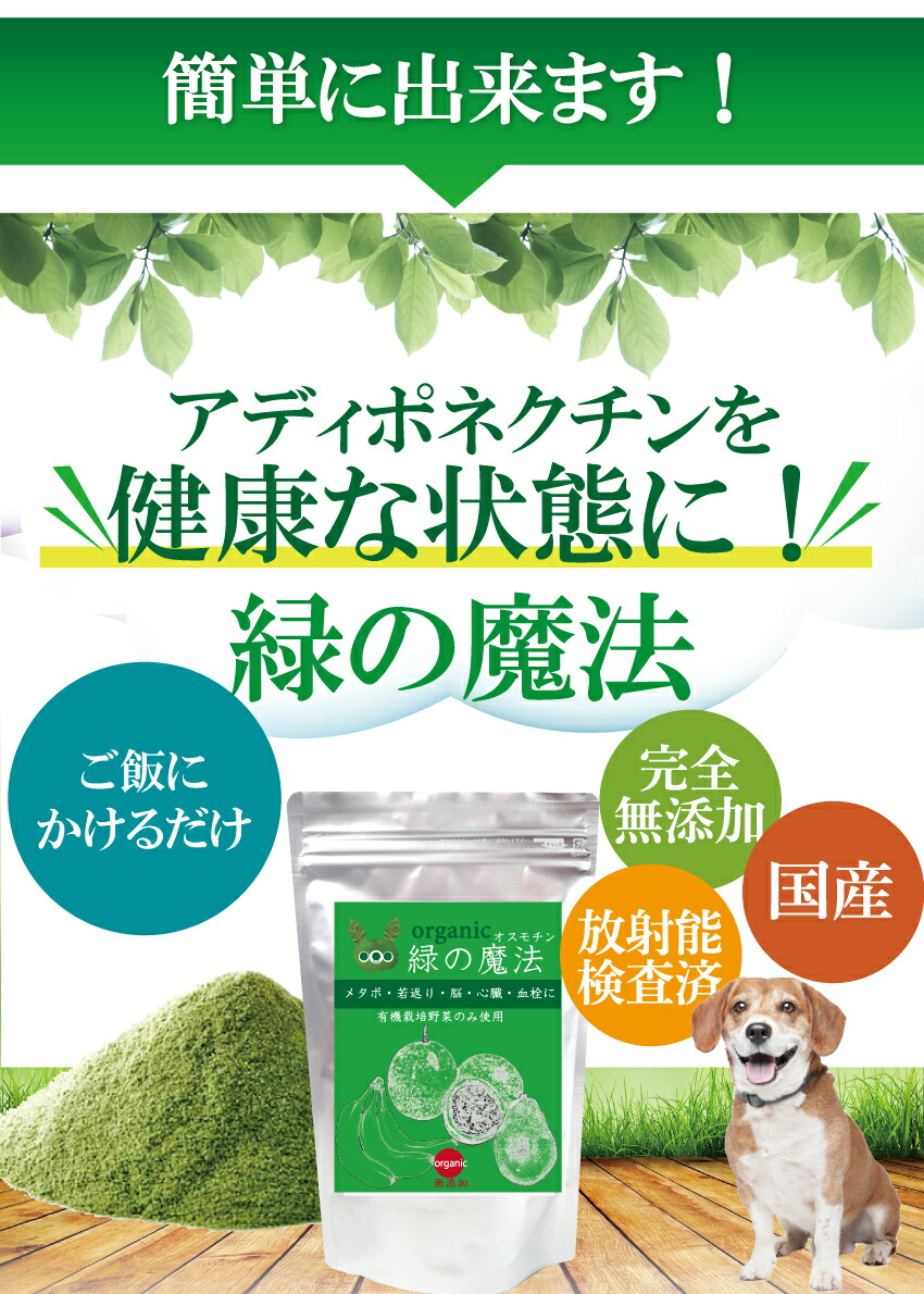犬のメタボ・肥満、脳、心臓、糖尿、生活習慣病、免疫力強化、長寿の為のサプリメント