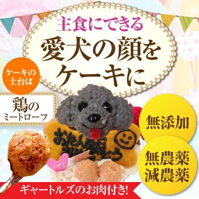 似顔絵ケーキ+ギャートルズのお肉