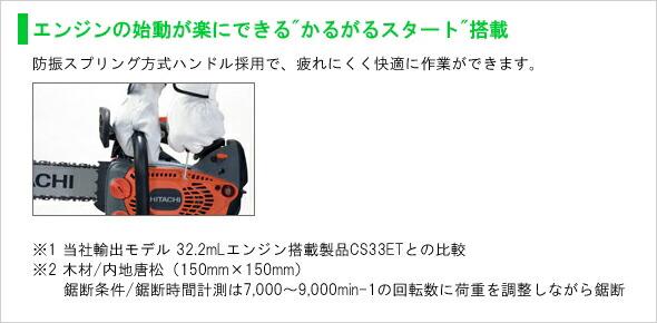 【日立工機】エンジンチェンソー《CS33EDTP(35S)》