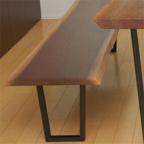 希少な材で作る 一枚板ベンチ