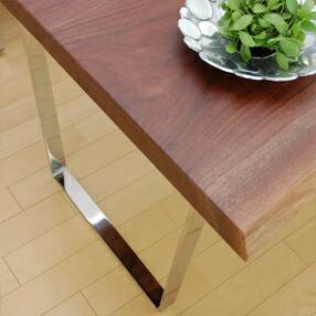 ステンレス無垢材を贅沢に使用した逸品 上品な輝きを放つ ステンレスムク・プラス台形型 脚