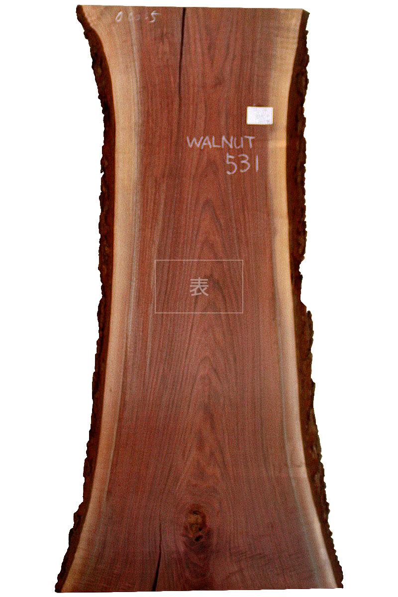 ブラックウォルナット一枚板 wn-531表