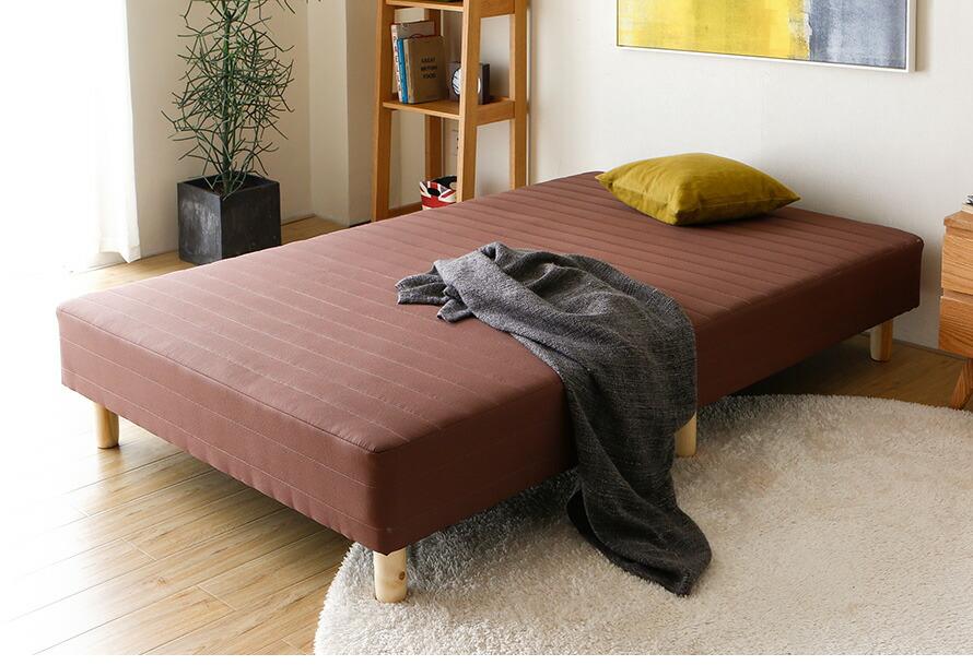 脚付きマットレスベッド