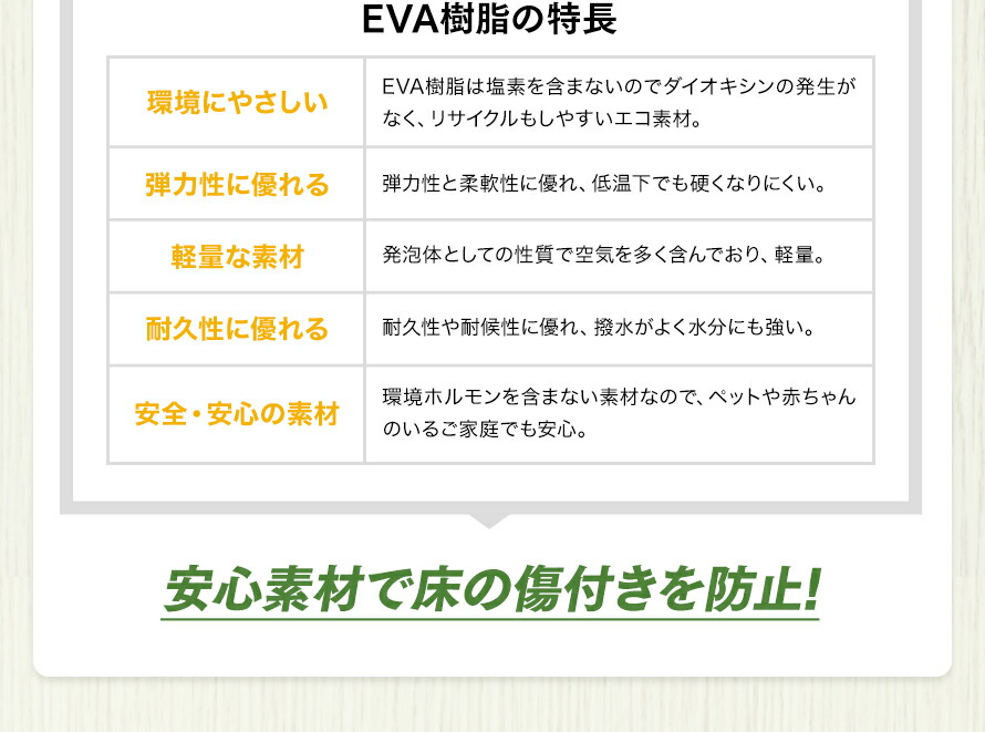 EVA樹脂の特徴
