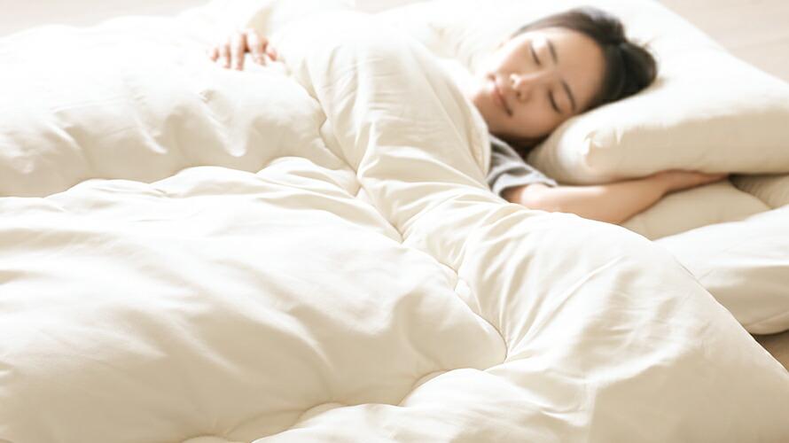 丸洗いOK◎いつも清潔でふわふわな寝心地。