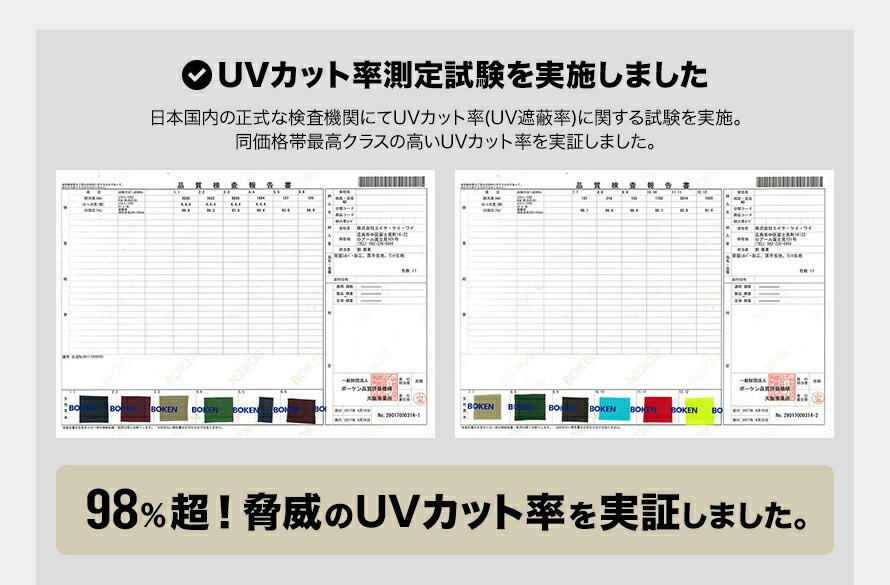 タープテント 検査機関にてUVカット率を検査しました
