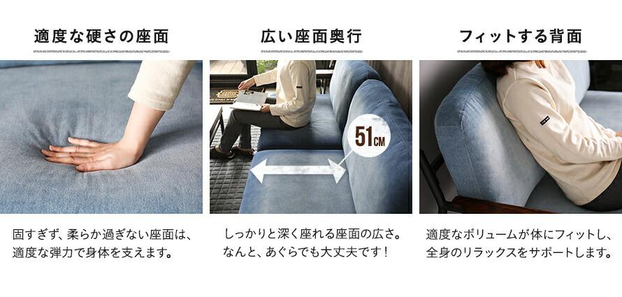 sanctum 適度な硬さ、広い座面、フィットする背面
