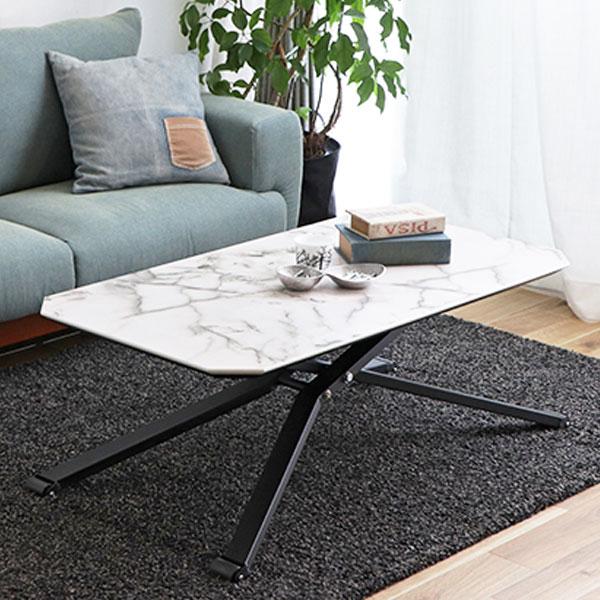 大理石調のリフトテーブル