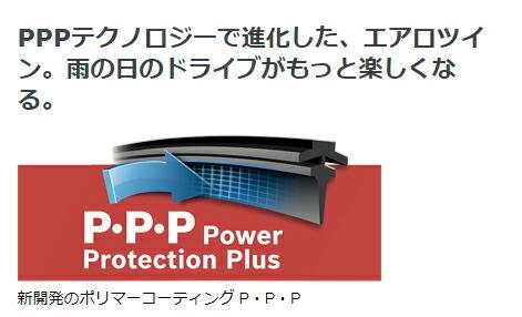 PPPテクノロジーで進化した、エアロツイン。雨の日のドライブがもっと楽しくなる。 新開発のポリマーコーティング P・P・P