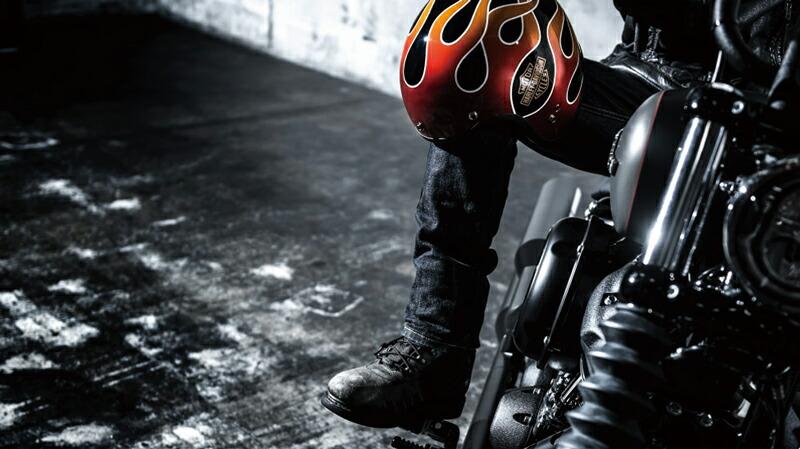 フレーム 【純正品】 ジェットヘルメット:98136-18JX Spirit・Retro Flame 3/4 Helmet・レトロ Helmet Meets H-D アライヘルメット・Arai