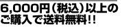 税込6,000円以上で 送料無料!