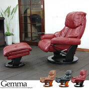 Reclining Chair: 'Gemma' red