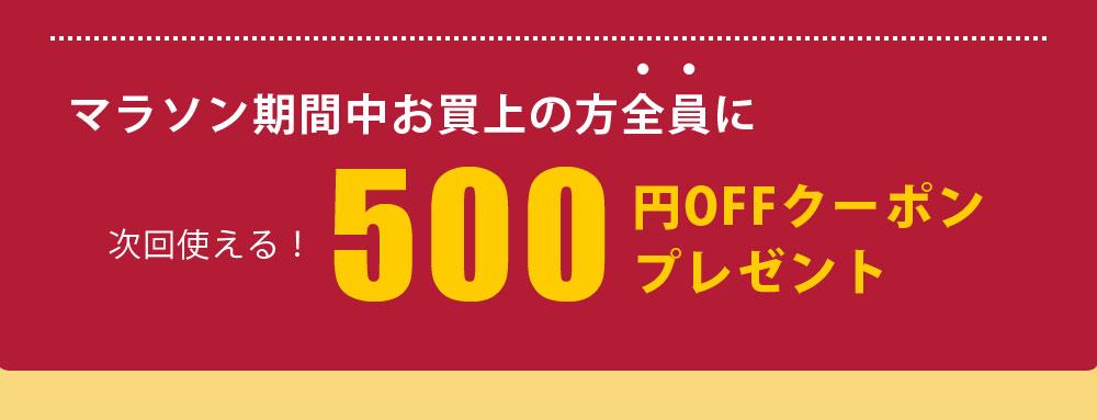 次回使える500円OFFプレゼント