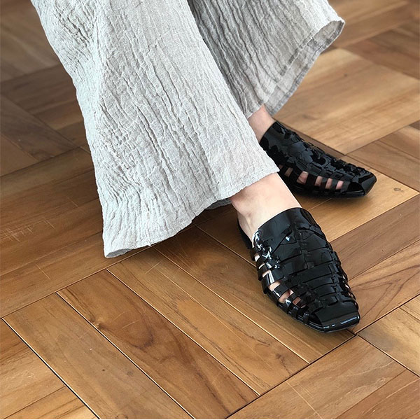 7bc4d37608d TODAYFUL today full LIFE s life mail order middle of May reservation Clear  Mesh Sandals clear mesh sandals Lady s shoes sandals PVC vinyl material  clear ...