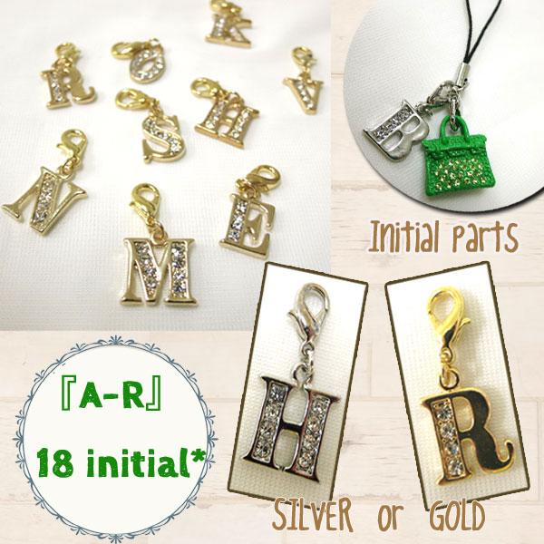 イニシャル/アルファベット/ストラップ/ゴールド/華やか/控えめ/小さい/チャーム/コイン型