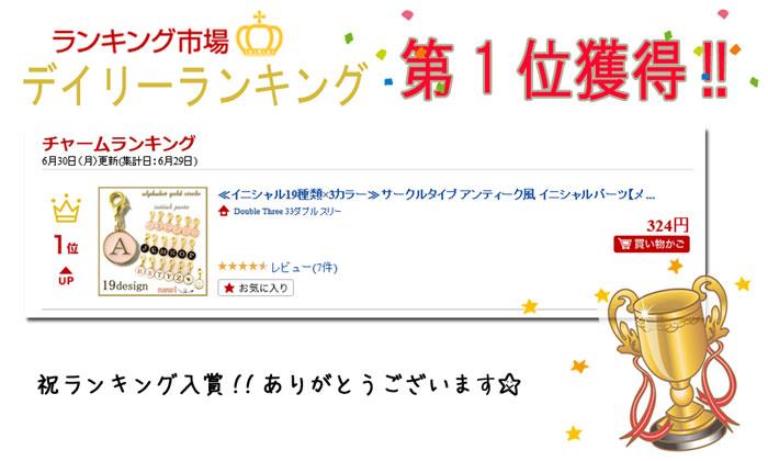 チャーム/イニシャルチャーム/アンティーク風/サークル/コイン型/ハート/ファスナーチャーム