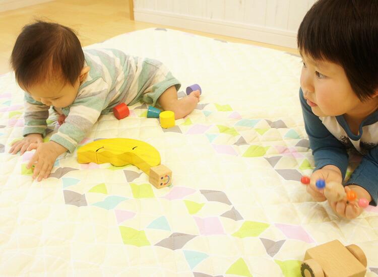 赤ちゃん プレイマット 敷物 おしゃれ コットン 150 正方形 ギフト 贈り物 出産祝い はいはい期