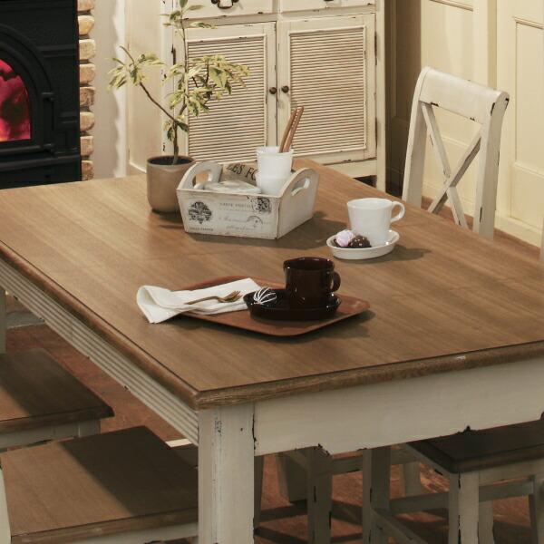 【送料無料】テーブル 机 ダイニングテーブル ダイニング BLOSSOM ブロッサム おしゃれ おうちカフェ カフェ レトロ インテリア 可愛い 木製 白