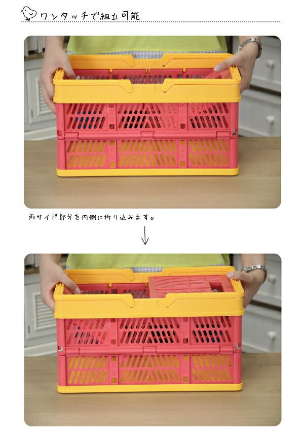 収納/ボックス/ケース/収納ケース/収納ボックス/折りたたみ/コンパクト/プラスチック/おもちゃ箱/子供部屋/小物入れ/カラフル