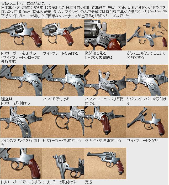 モデルガン 二十六式拳銃 HWS 組立キット