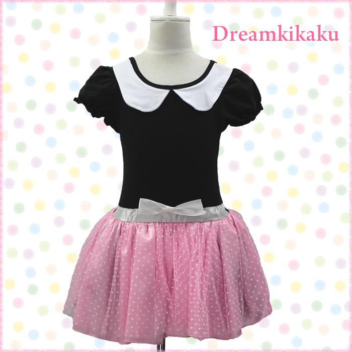 43cb0ef19640 dreamkikaku  Dot Leotard pink red black dance costume Ballet ...