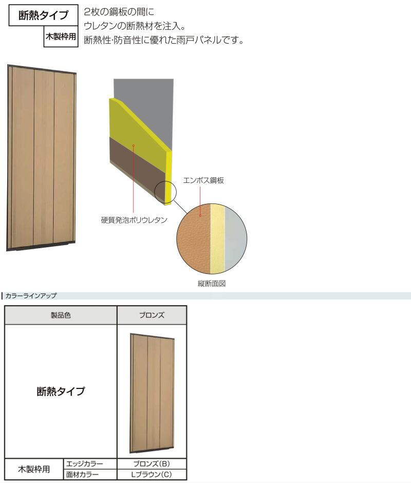 木製枠用雨戸断熱タイプについて