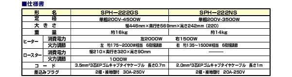 SPH-222GS仕様書