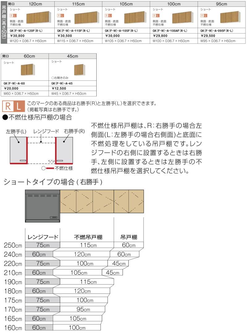 パッとりくんGK吊戸棚(高さ50cm)の説明