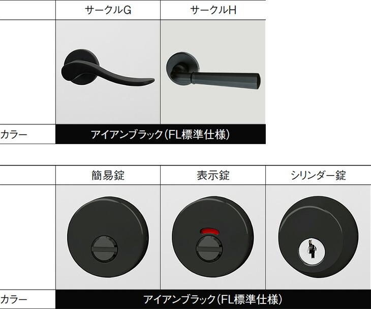 レバーハンドル、錠の選択