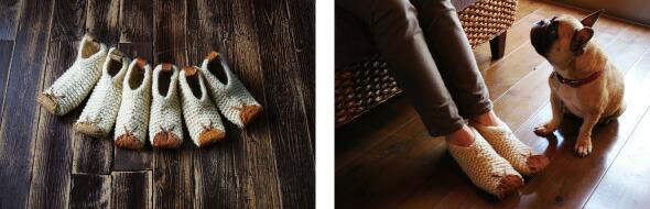 サーモンレザーをアップサイクル。アースコンシャスな室内用靴。