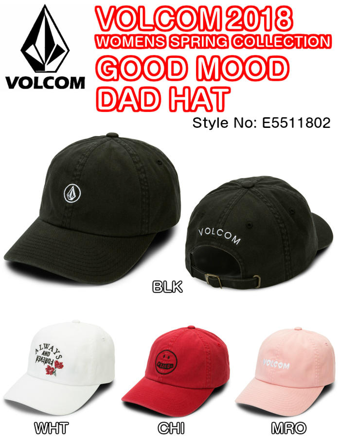 b08968cc ... best price volcom good mood dad hat e5511802 blk wht chi mro c534c 9a043