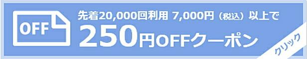 7000円以上250円