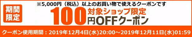 5000円以上100円クーポン