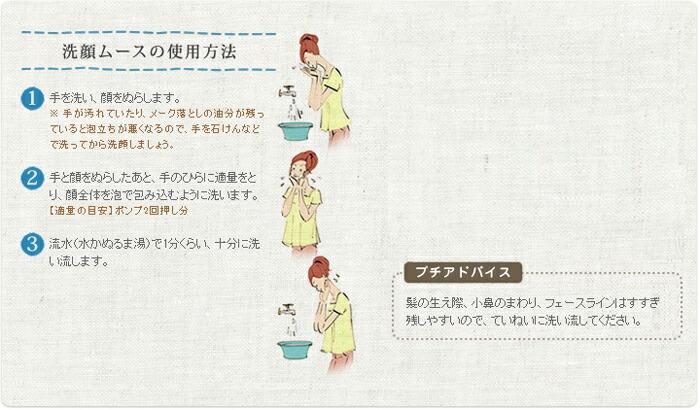 2e洗顔ムースの使用方法