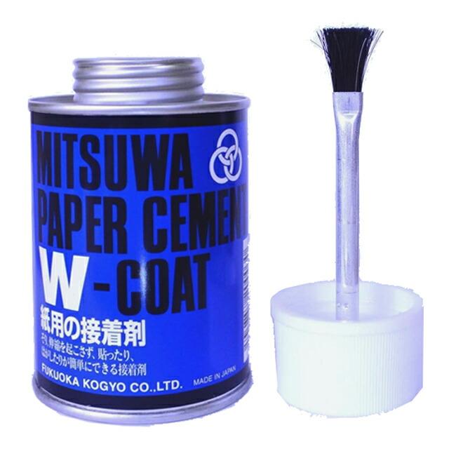 ミツワ ペーパーセメント Wコート 両面塗り 丸缶
