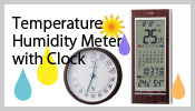 Temperature Humidity Meter with Clock