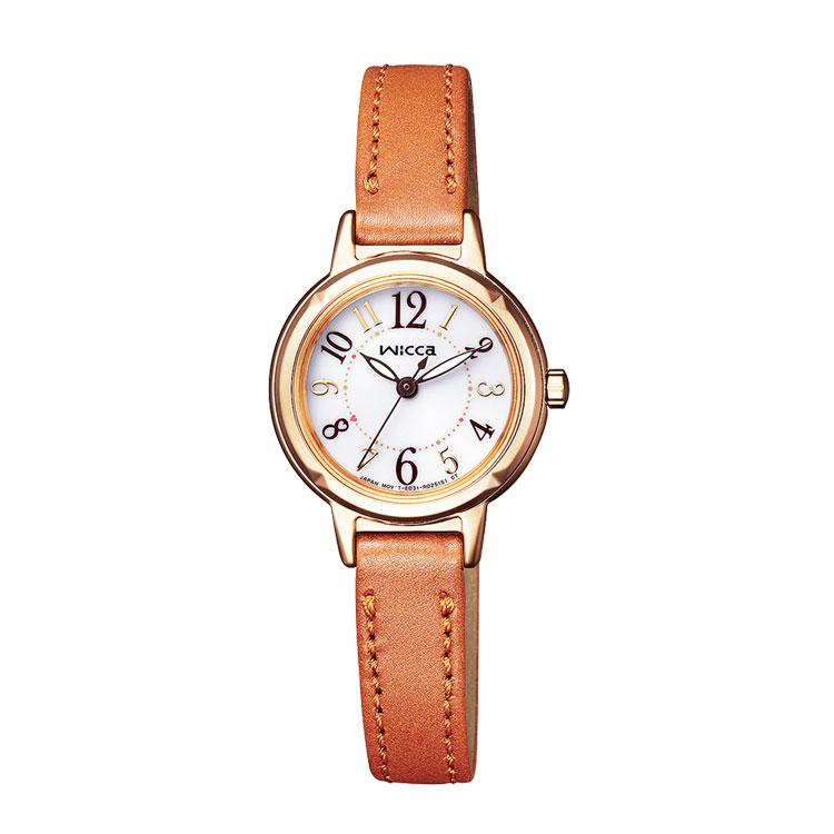 CITIZEN/シチズン wicca(ウィッカ)革バンドレディース腕時計