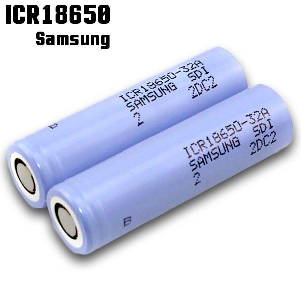 電子タバコ 推奨バッテリー Samsung ICR18650 3200mAh 32A 1個 サムスン 充電可