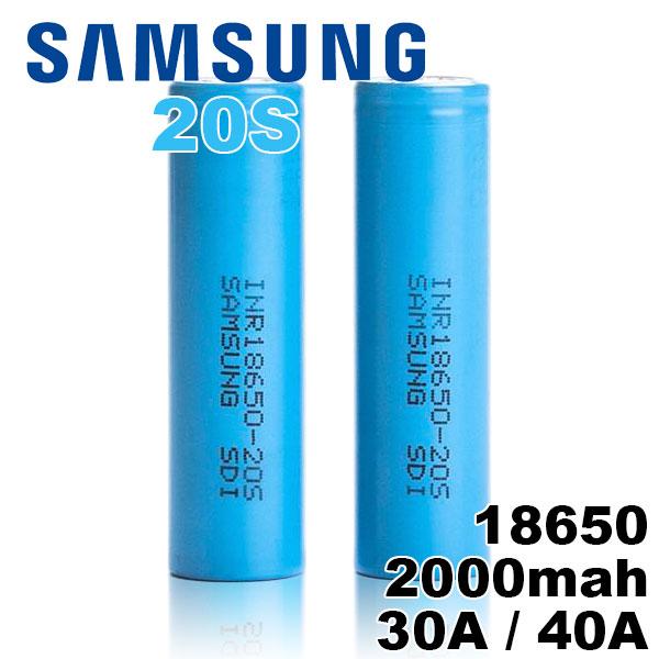 18650 バッテリー サムスン Samsung 18650 20S 2000mAh 1個 充電可能 MOD VAPE 電子タバコ 電池 メーカー正規品