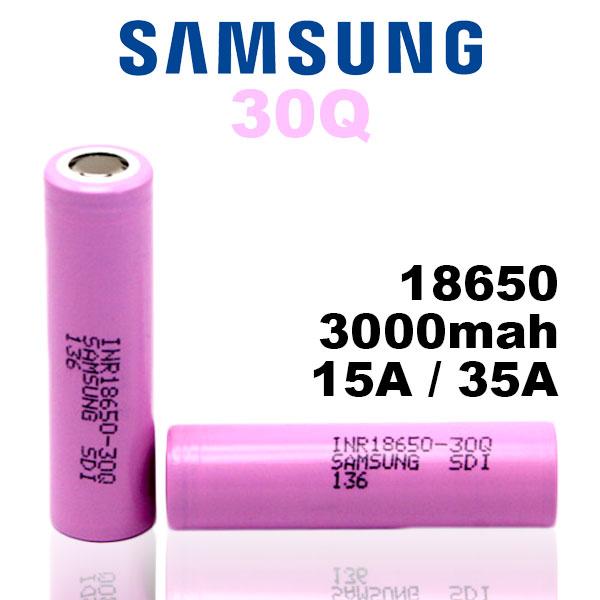18650 バッテリー サムスン Samsung 18650 30Q 3000mAh 1個 充電可能 MOD VAPE 電子タバコ 電池 メーカー正規品