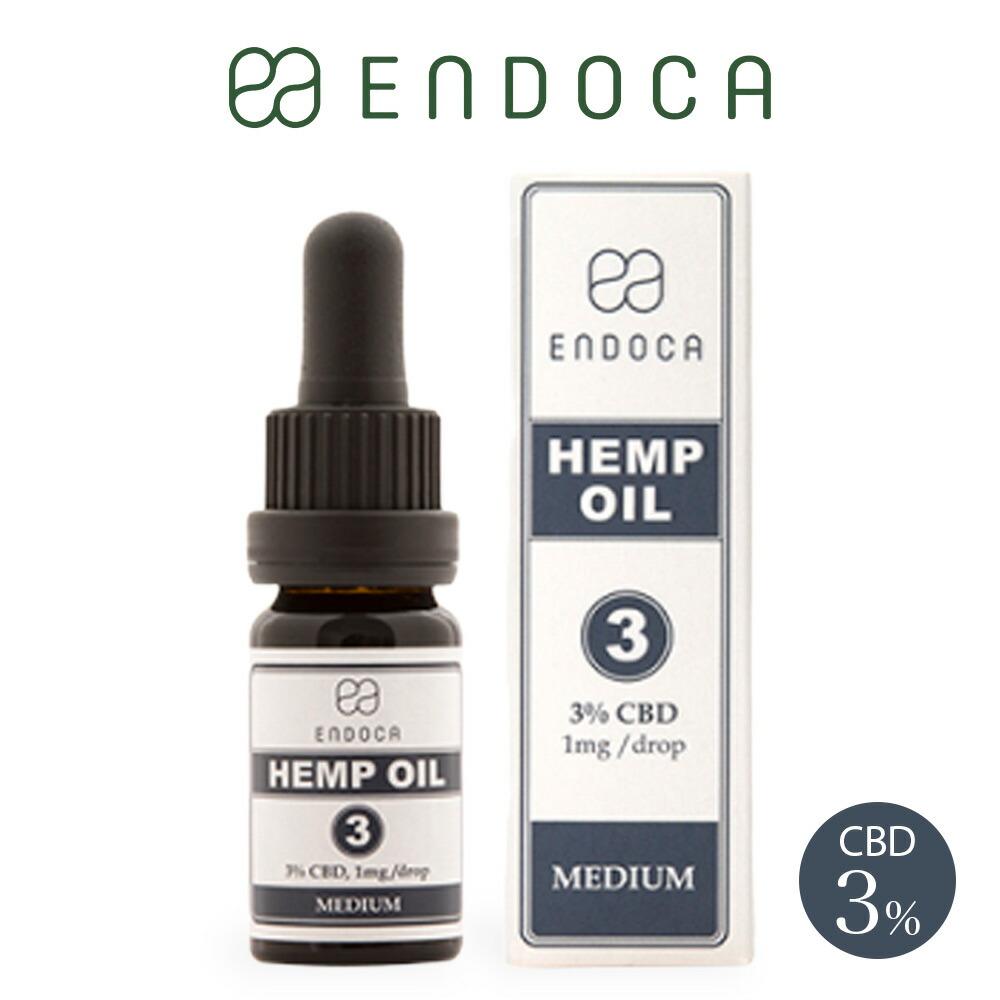 CBD オイル 300mg 容量10ml 濃度3% ENDOCA エンドカ oil 高濃度 不眠 ストレス リラックス 快眠 リキッド