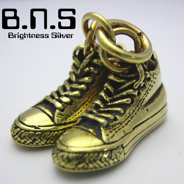 brass shoes バスケットシューズペンダント 真鍮 ブラス (靴 スニーカー バッシュ)